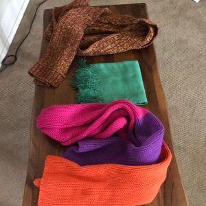 Bundle of three wool scarves